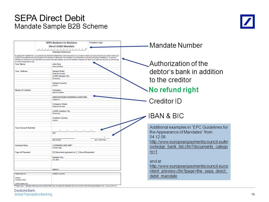 SEPA Background SEPA Credit Transfer SEPA Direct Debit SEPA Benefits SEPA Status and Outlook