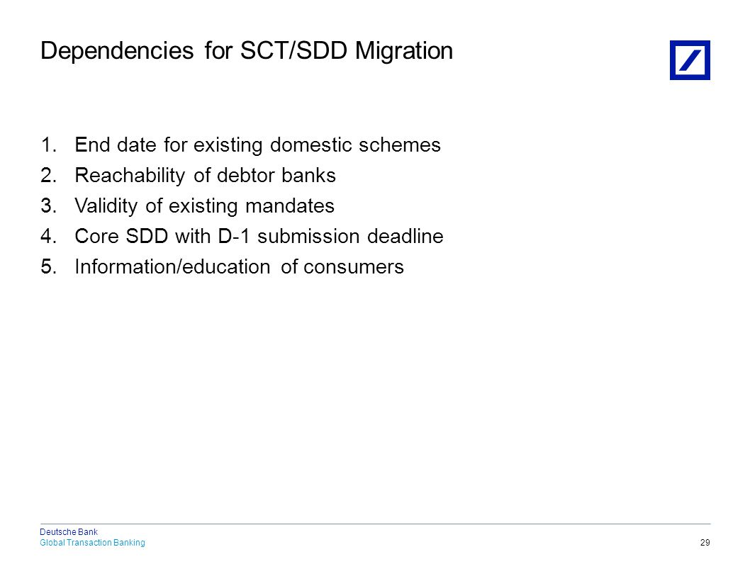 1. End Date for existing domestic Schemes Approach of the European Commission