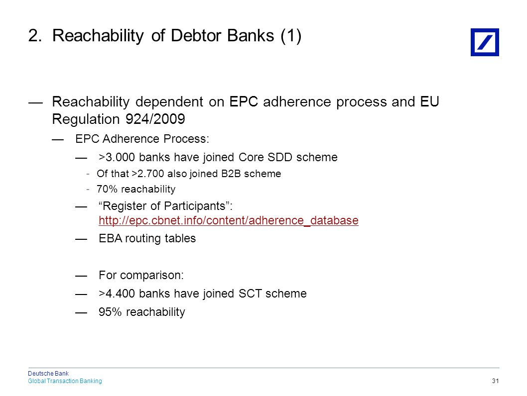2. Reachability of Debtor Banks (2)