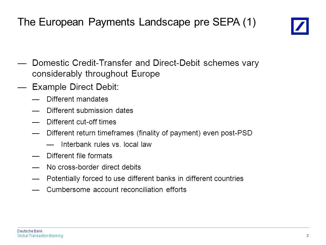 The European Payments Landscape pre SEPA (2)