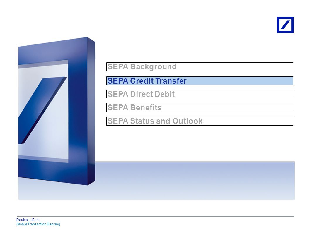 SEPA Credit Transfer Characteristics