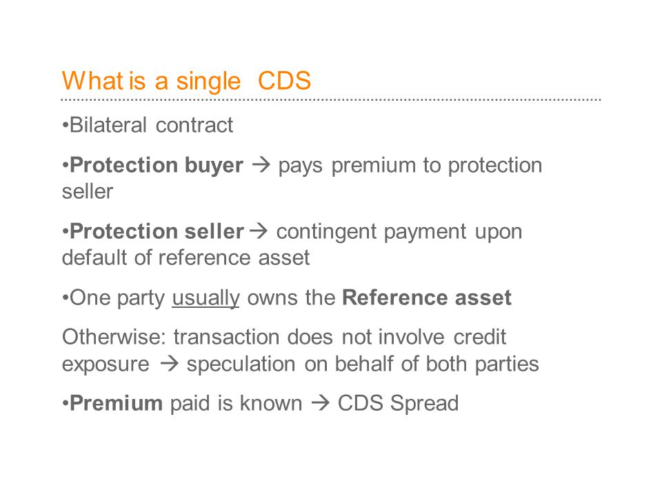 What is a single CDS Bilateral contract
