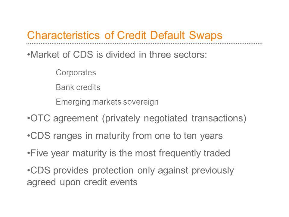 Characteristics of Credit Default Swaps
