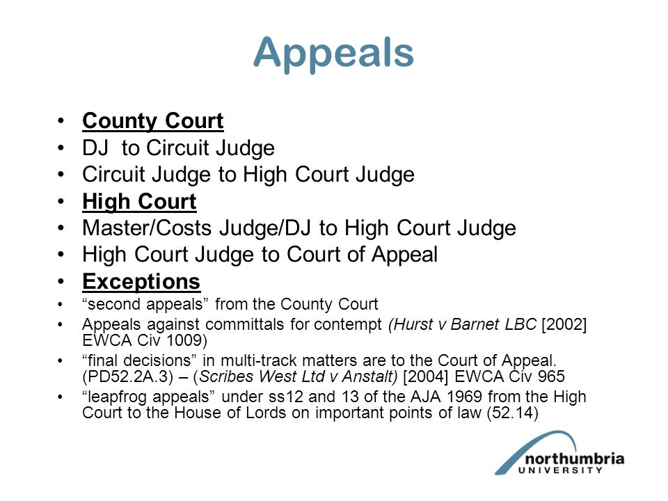 Appeals County Court DJ to Circuit Judge