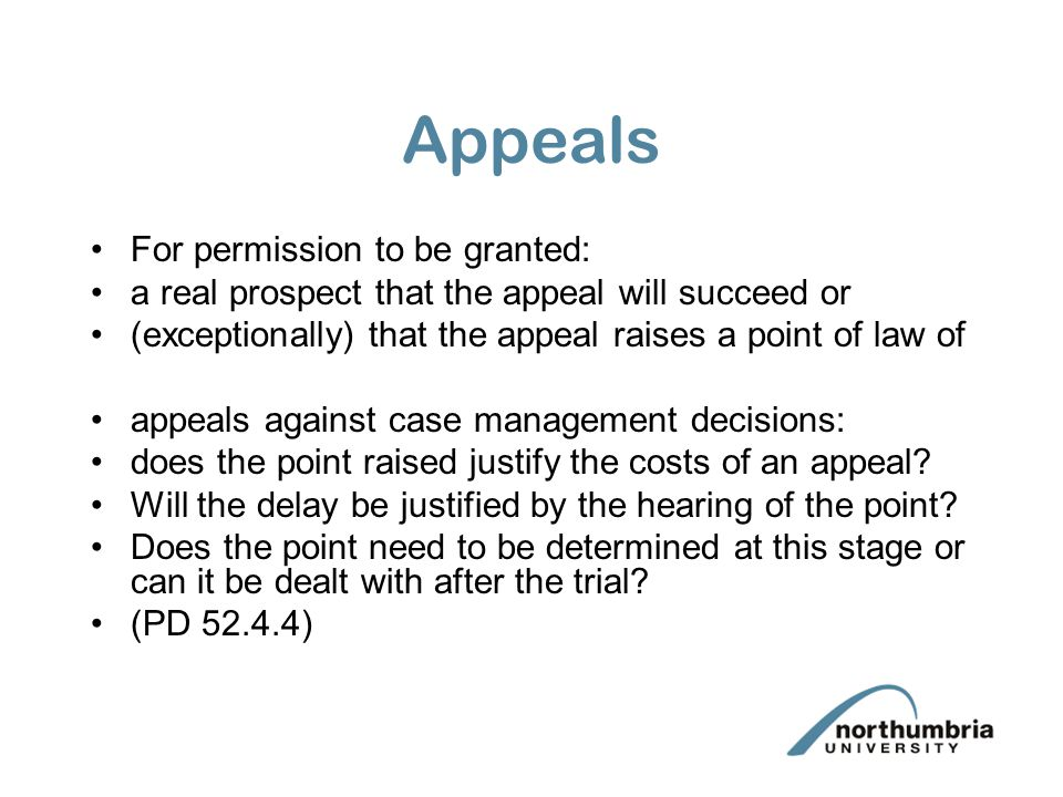 Appeals For permission to be granted: