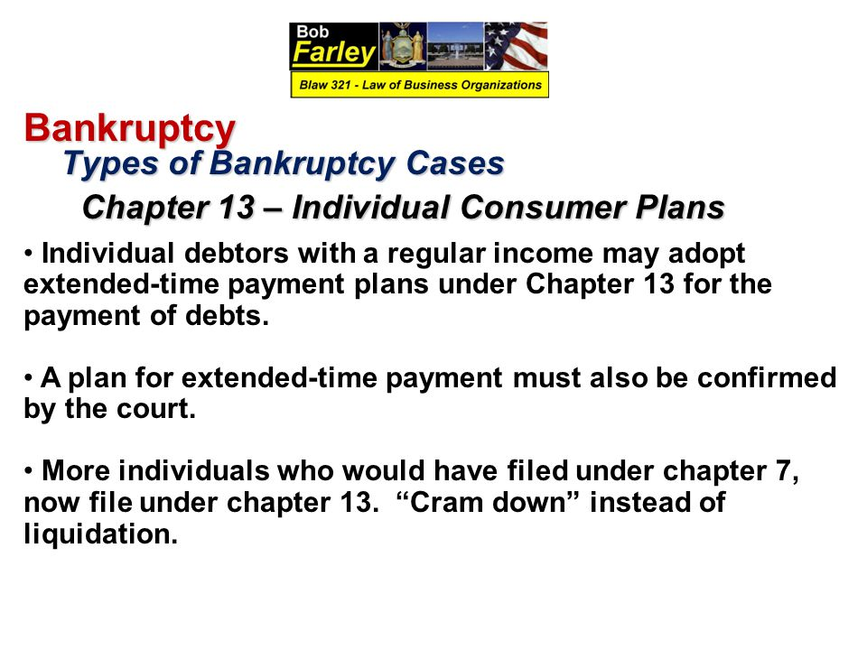 Bankruptcy Types of Bankruptcy Cases