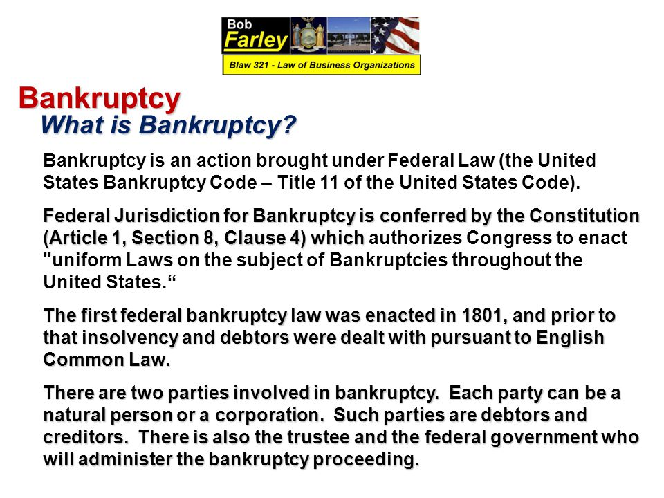 Bankruptcy What is Bankruptcy