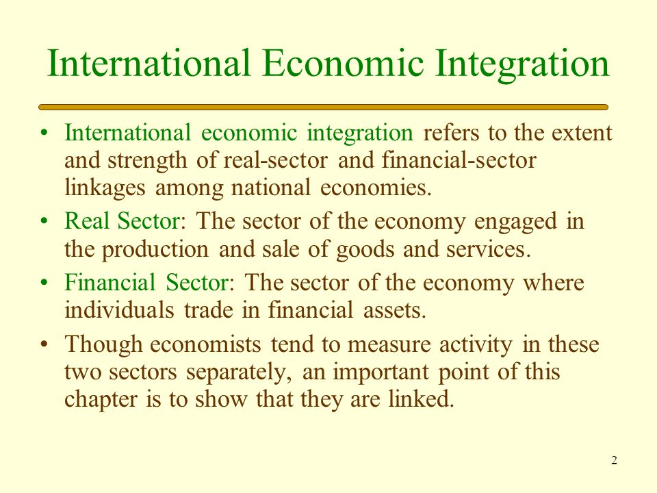 International Economic Integration