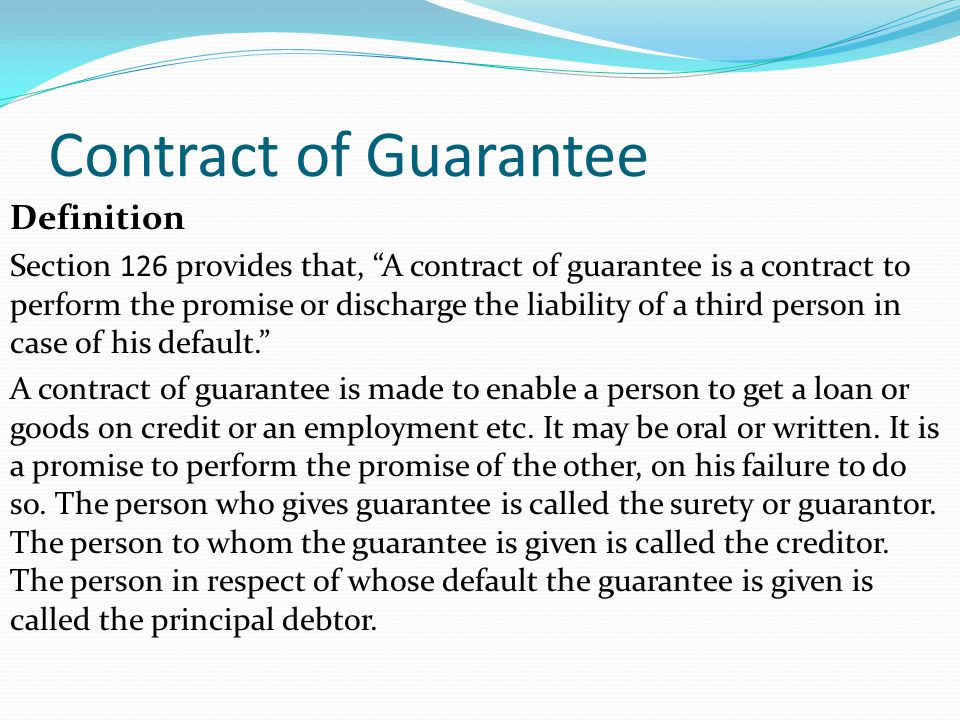 (PPT) Indemnity and guarantee | Varada Sidvin - Academia.edu