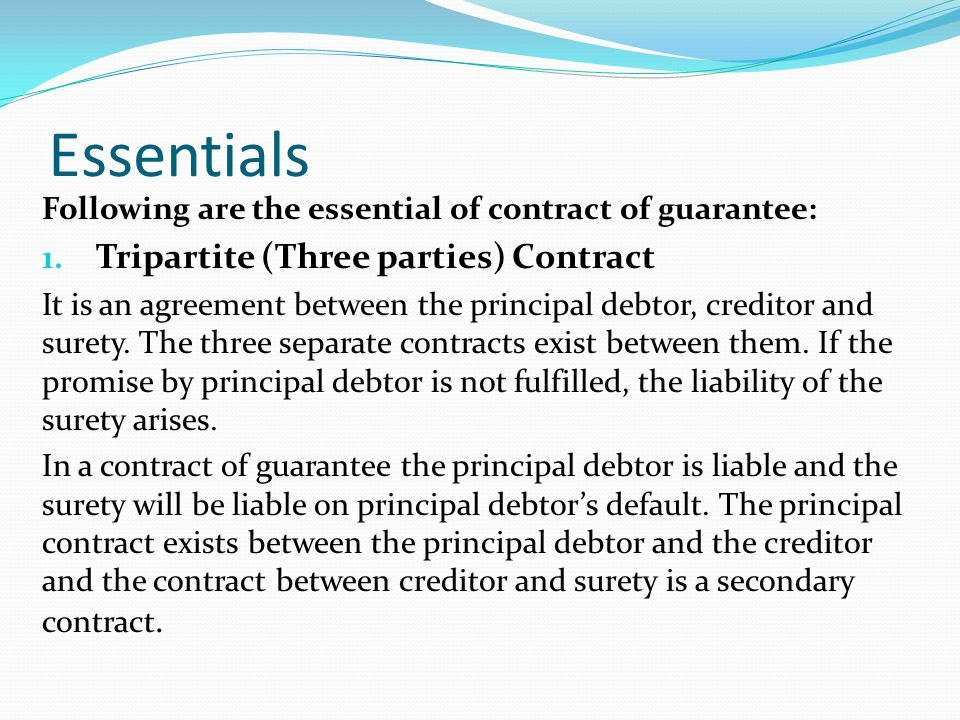 Essentials Tripartite (Three parties) Contract