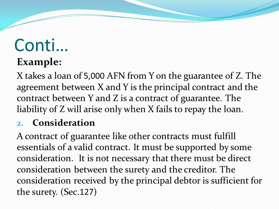 Indemnity and guarantee ppt video online download example platinumwayz