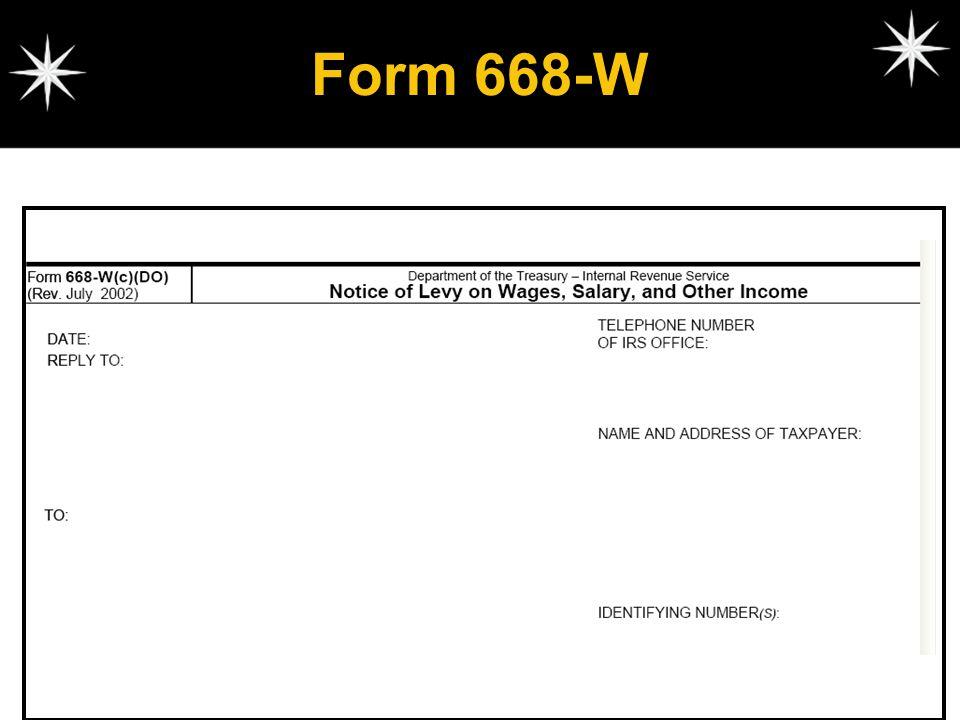 Form 668-W