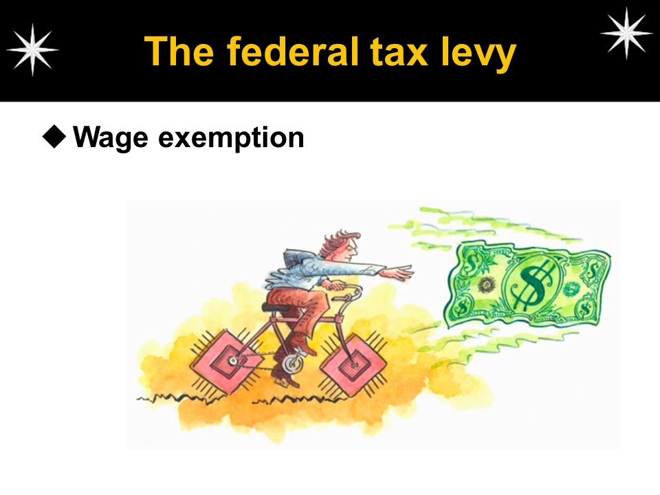 The federal tax levy Wage exemption