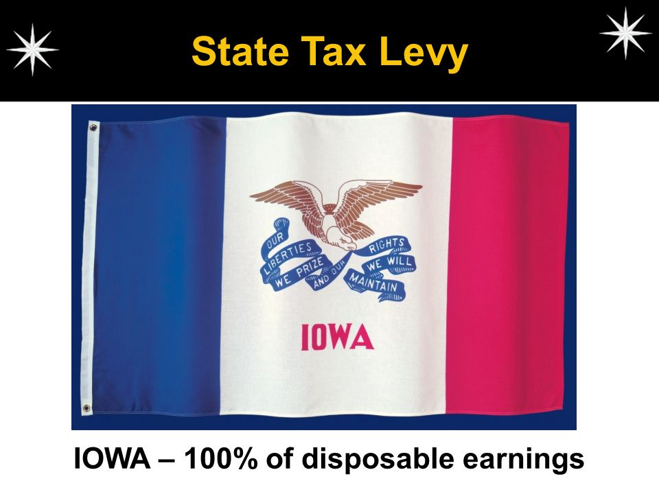 IOWA – 100% of disposable earnings