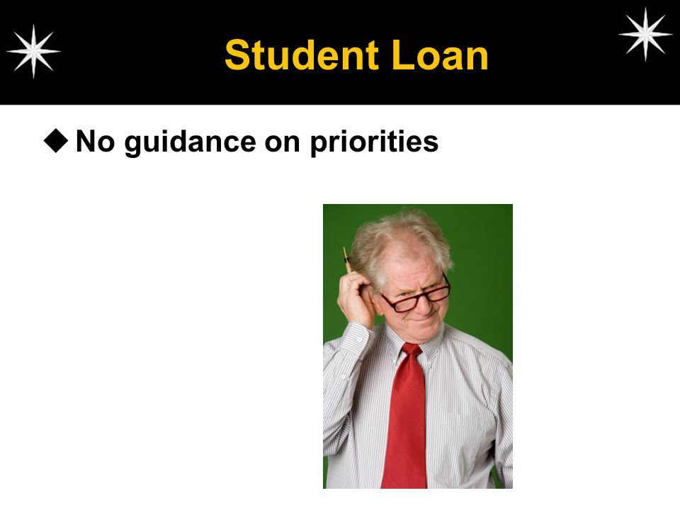 Student Loan No guidance on priorities