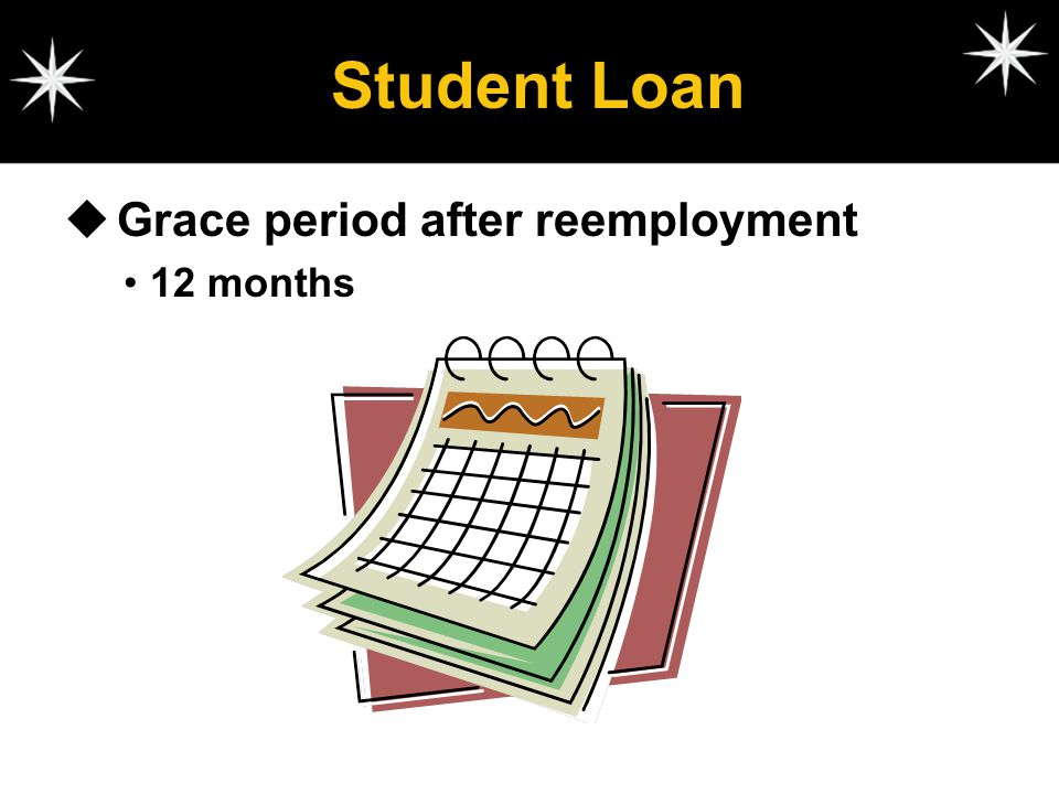 Student Loan Grace period after reemployment 12 months