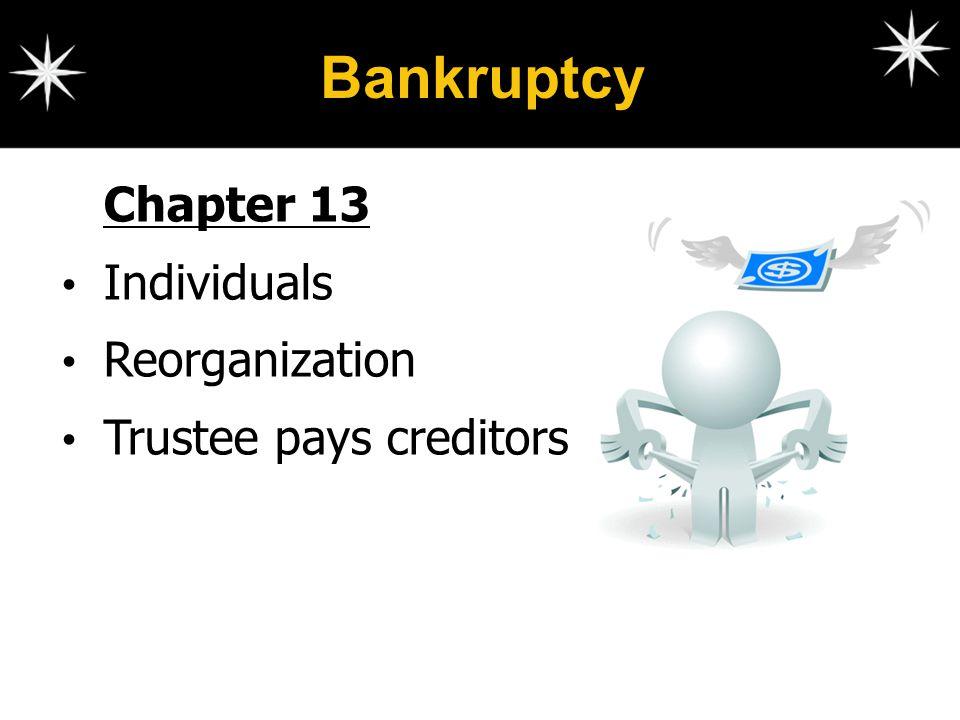 Bankruptcy Chapter 13 Individuals Reorganization