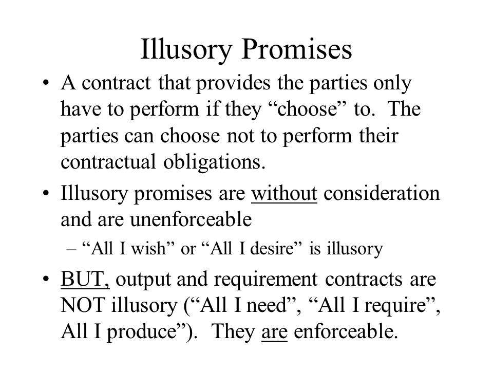 Illusory Promises
