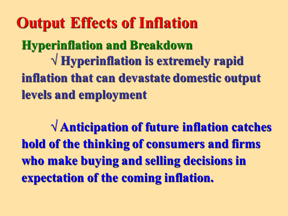 Output Effects of Inflation