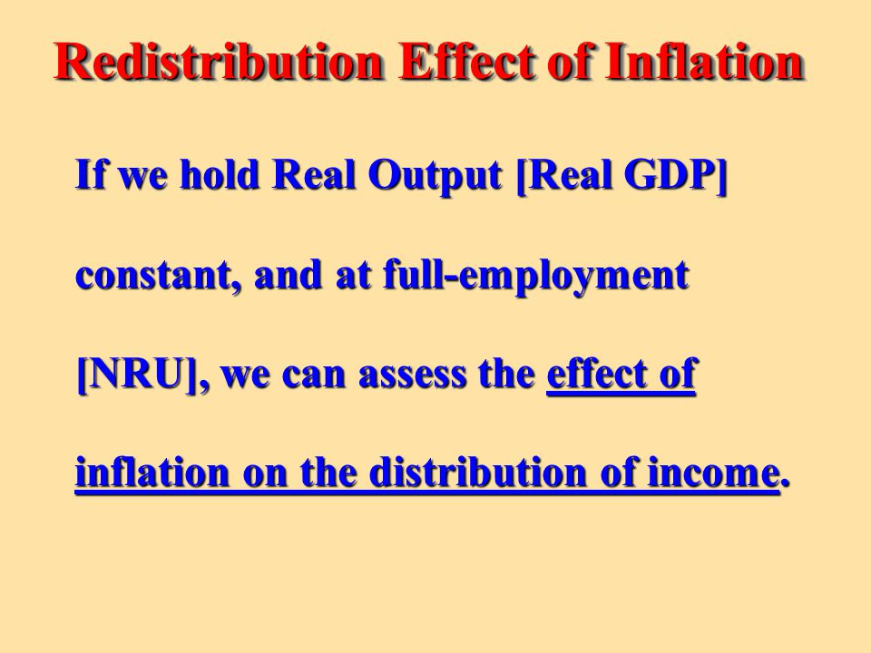 Redistribution Effect of Inflation