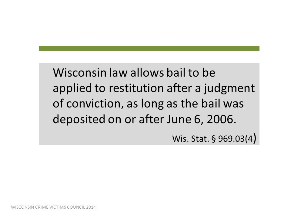 WISCONSIN CRIME VICTIMS COUNCIL 2014