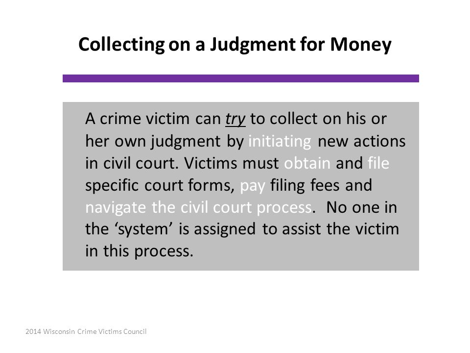 Collecting on a Judgment for Money
