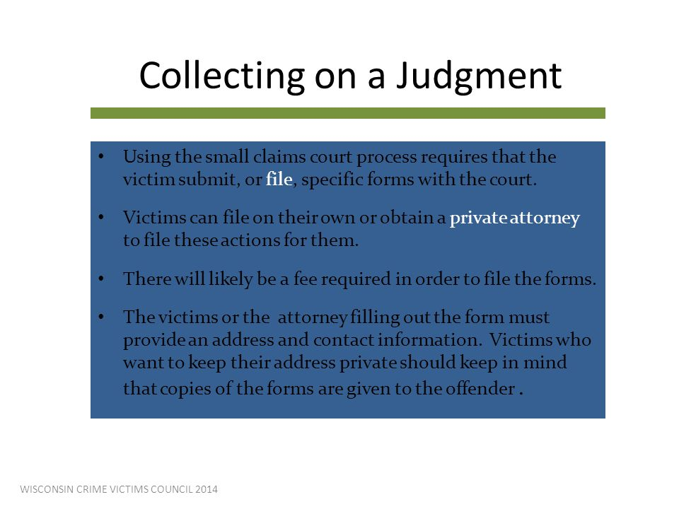 Collecting on a Judgment