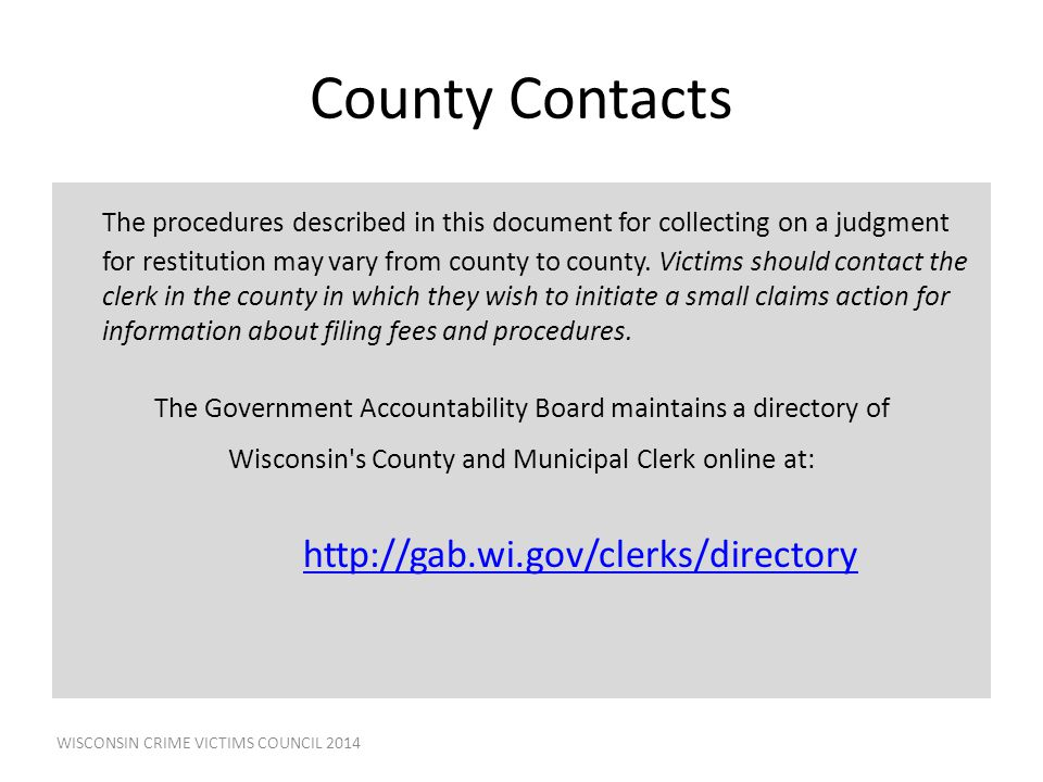 County Contacts