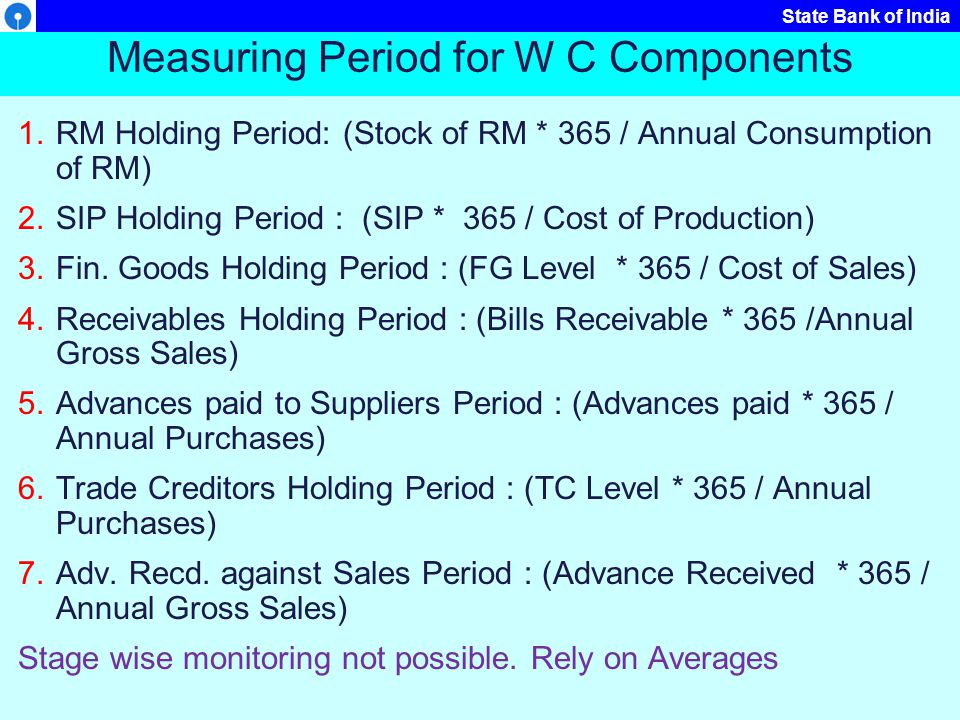 Measuring Period for W C Components