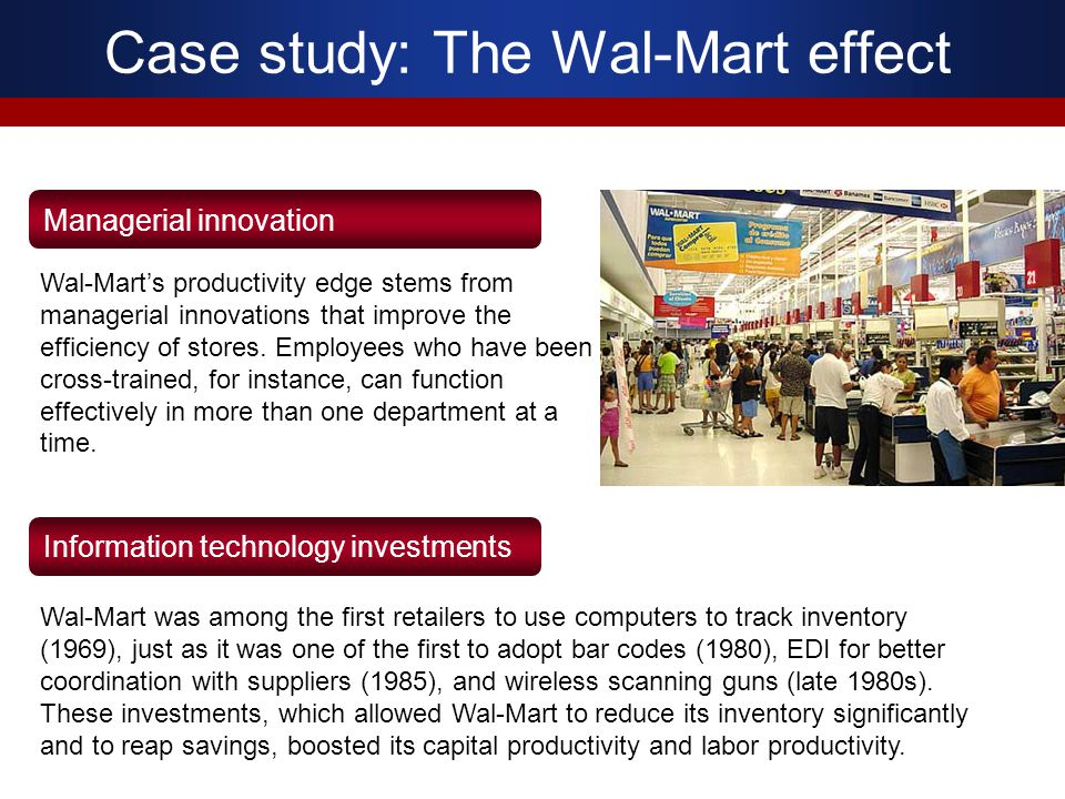 Case study: The Wal-Mart effect