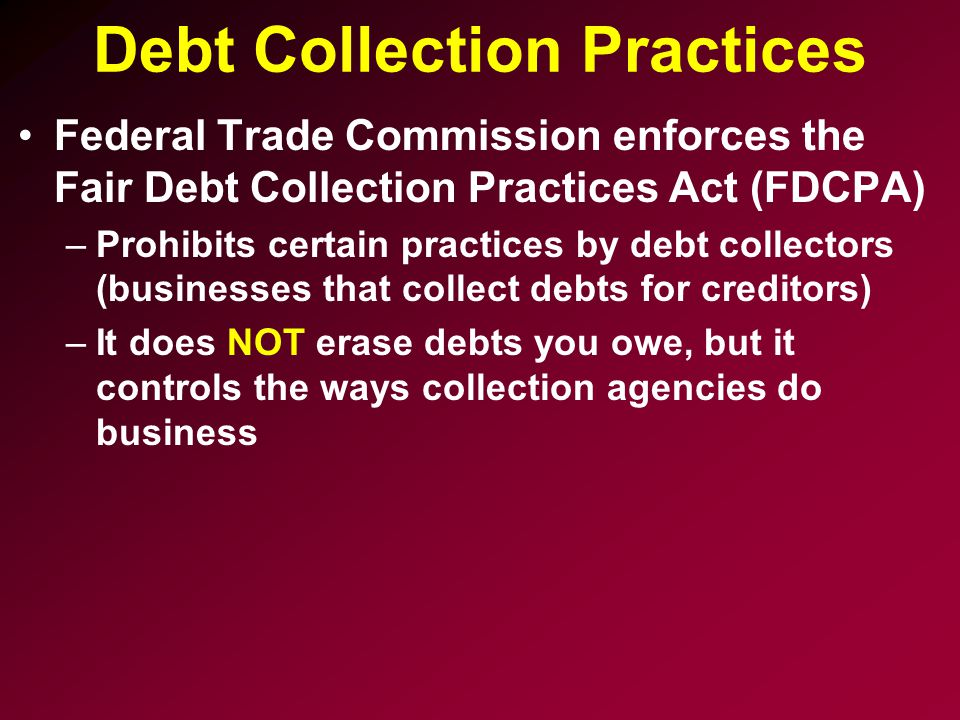 Debt Collection Practices
