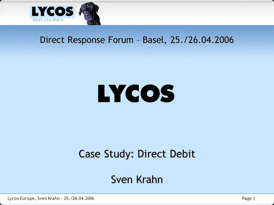 Direct Response Forum – Basel, 25./26.04.2006