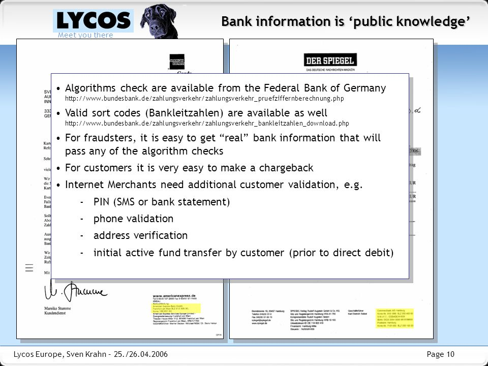 Bank information is 'public knowledge'