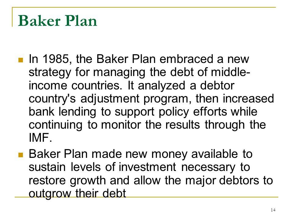 Baker Plan
