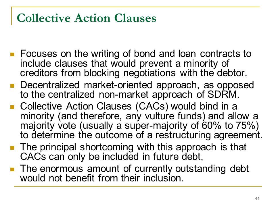 Collective Action Clauses