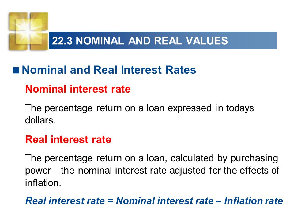 22.3 NOMINAL AND REAL VALUES