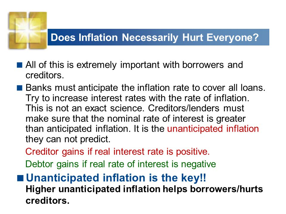 Does Inflation Necessarily Hurt Everyone