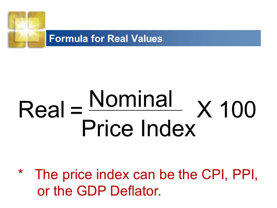 Formula for Real Values