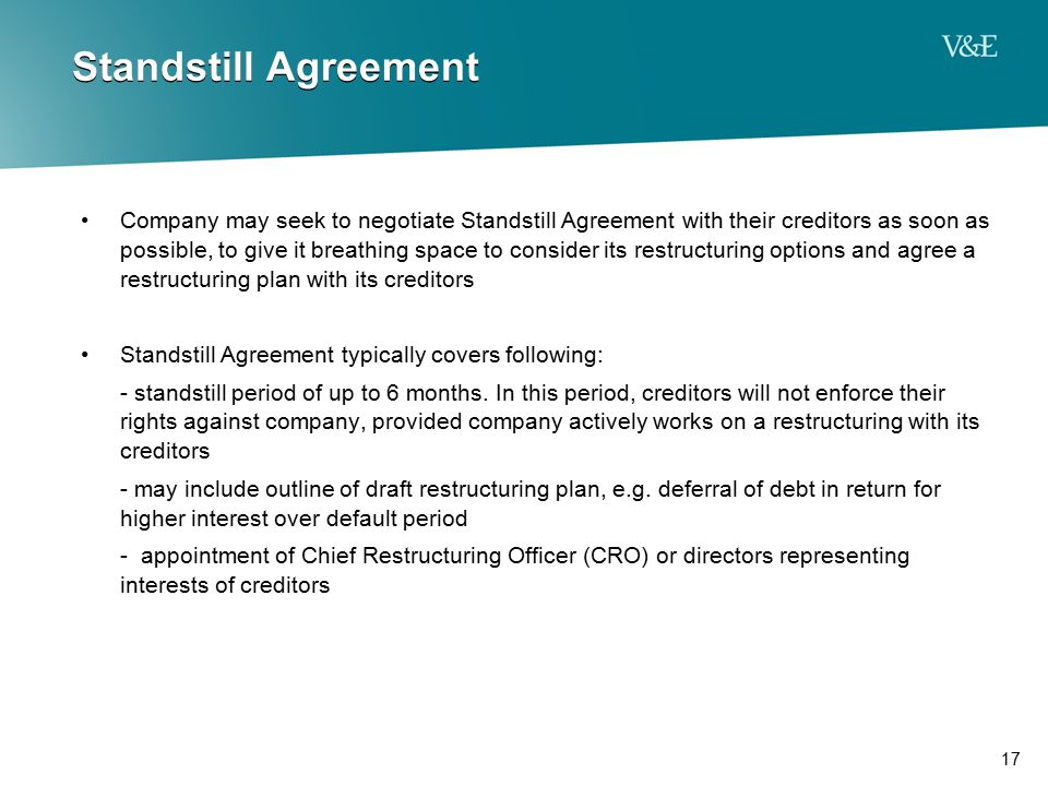 Standstill Agreement