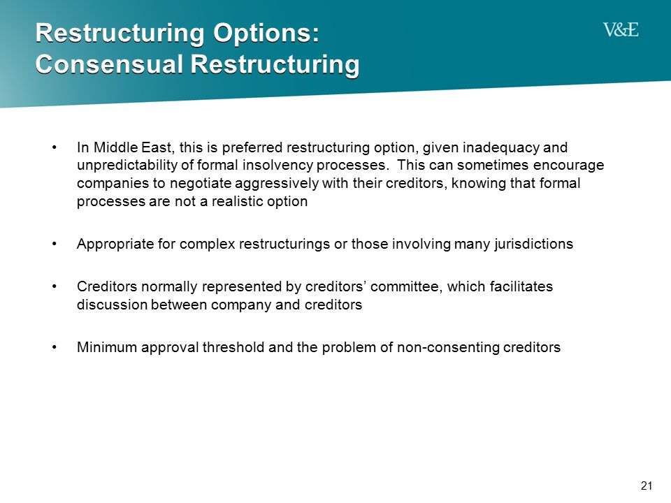 Restructuring Options: Consensual Restructuring