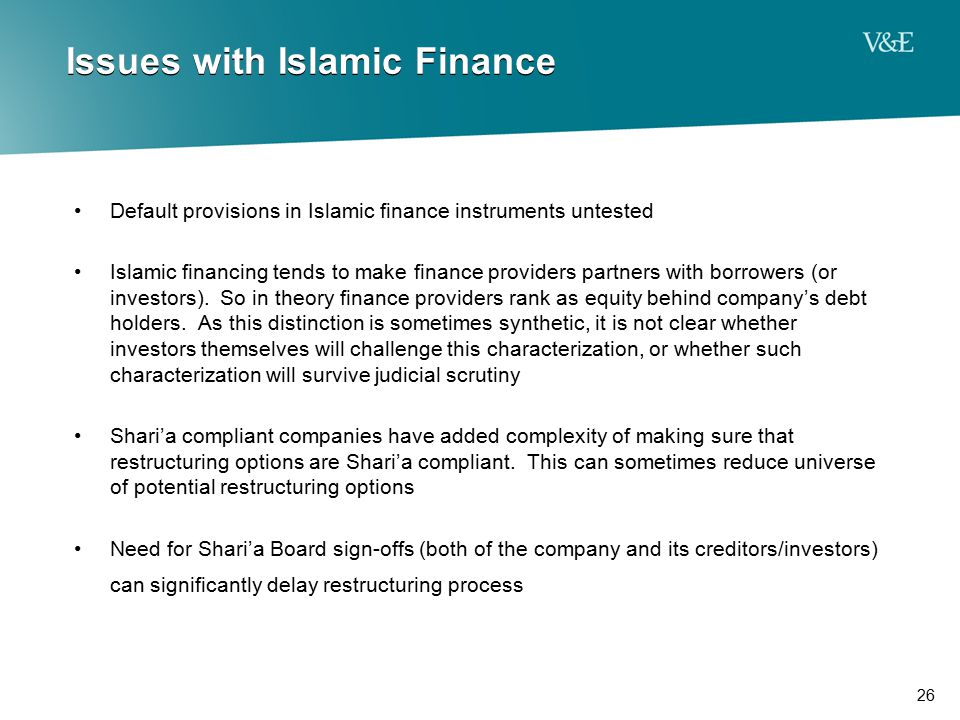 Issues with Islamic Finance