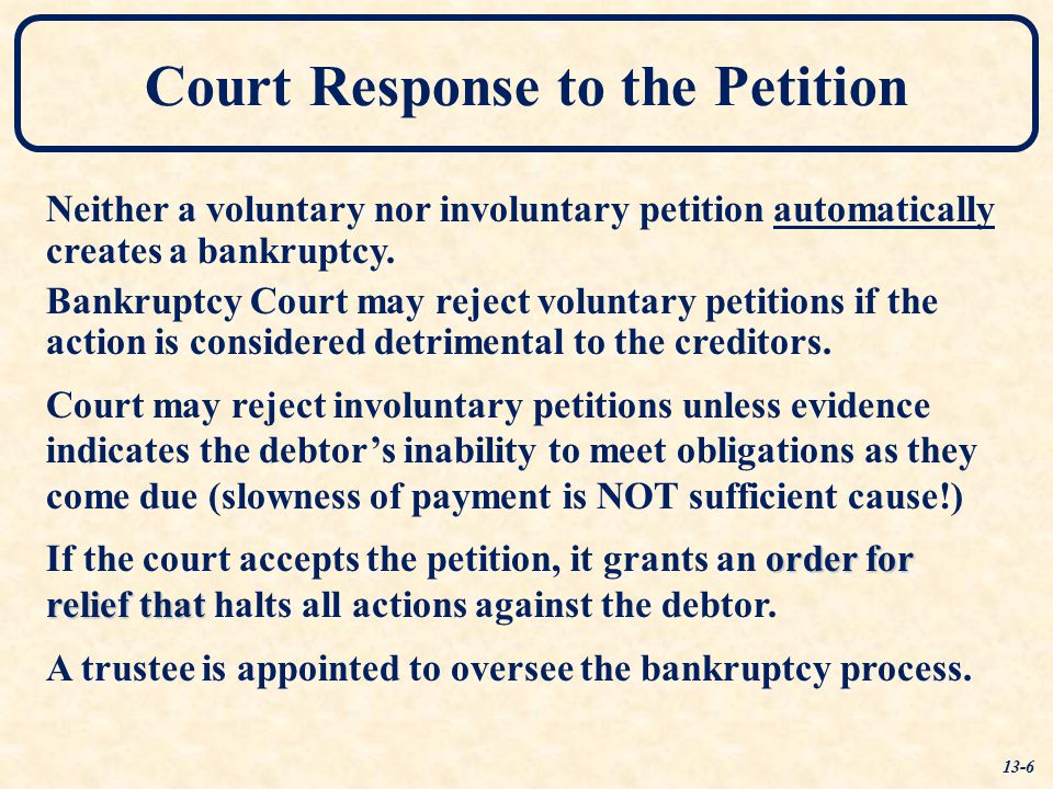 Court Response to the Petition