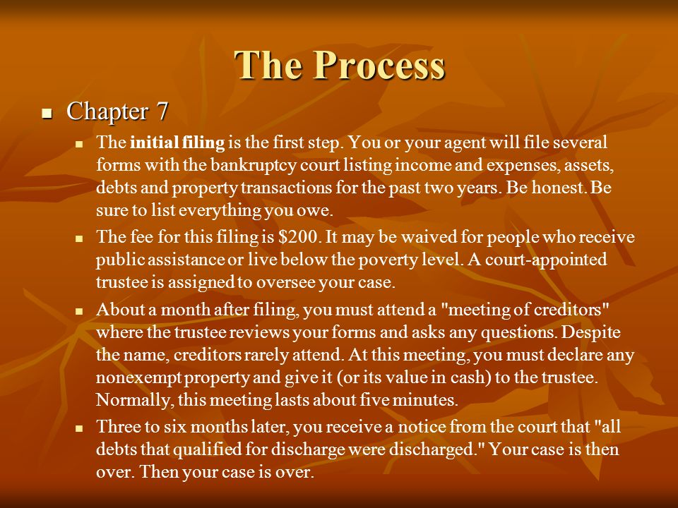 The Process Chapter 7.