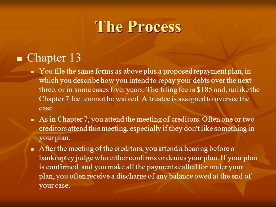 The Process Chapter 13.