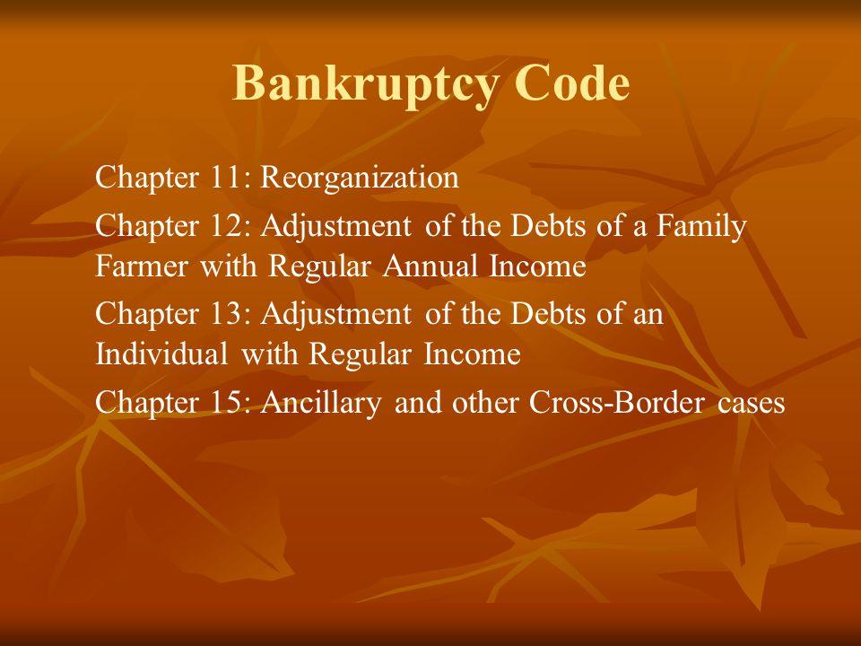 Bankruptcy Code Chapter 11: Reorganization