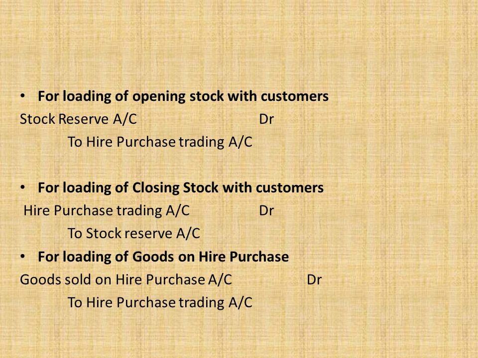 For loading of opening stock with customers