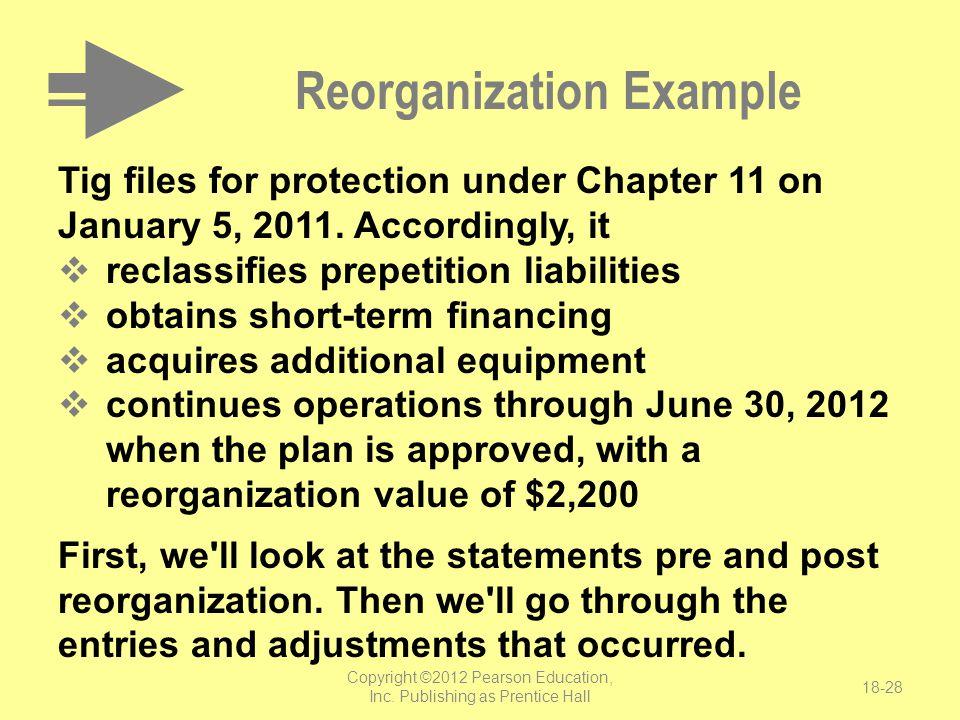 Reorganization Example