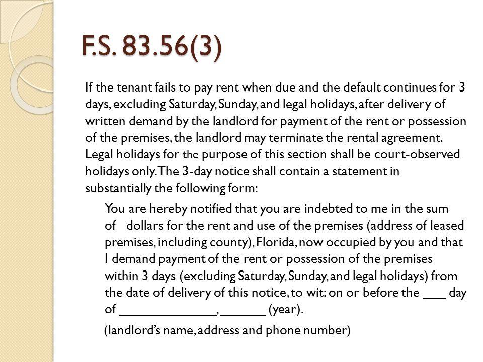 F.S. 83.56(3)