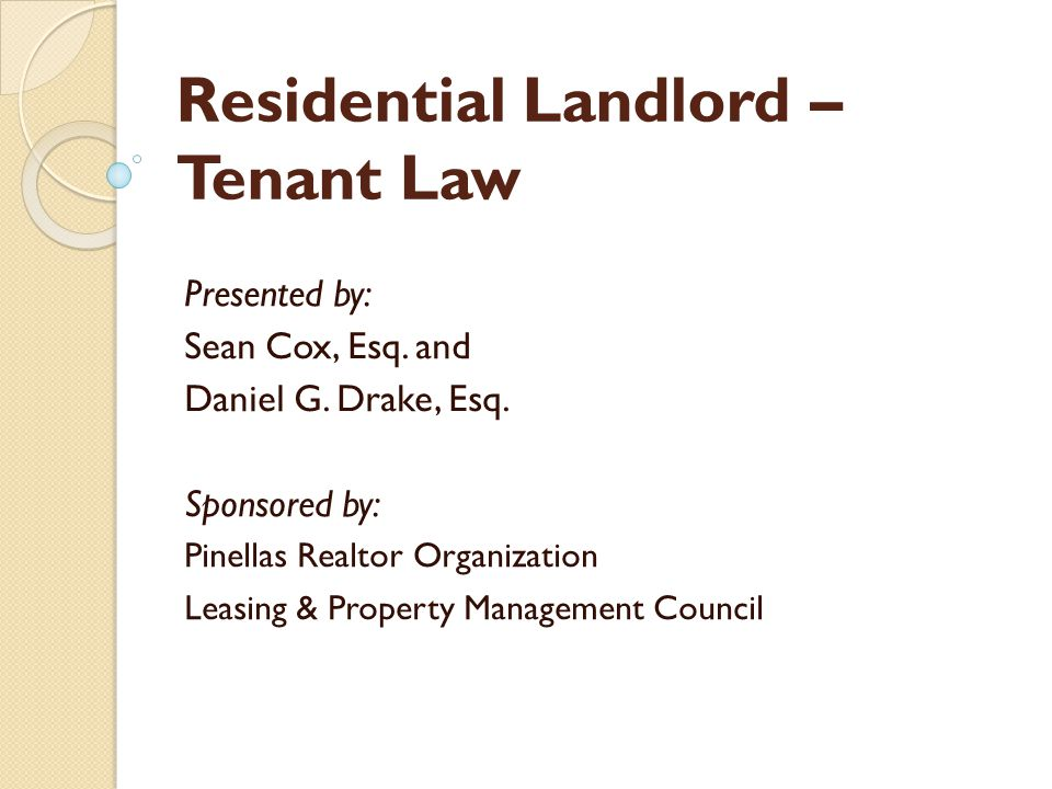 Residential Landlord – Tenant Law