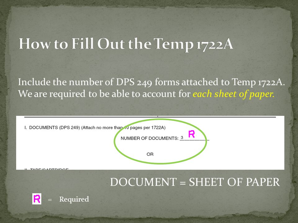 How to Fill Out the Temp 1722A